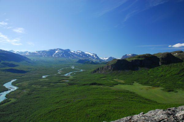 View up the Rapadalen from Namaj, Sarek National Park, Sweden
